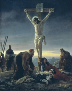 Jesus on the cross - Martyred for his beliefs