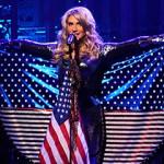 Singer Ke$ha showing her patriotism