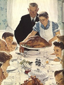 Norman Rockwell - Idyllic portrait of Freedom from Want