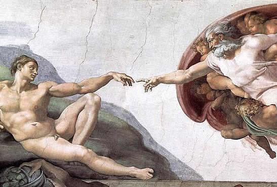 God and Adam - Michael Angelo's Fresco