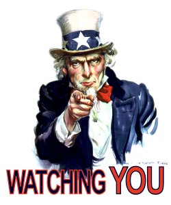 Govenrment and corporate surveilance - watching-you-UncleSam