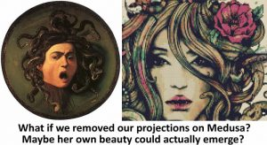 Medusa-before and after we remove our projections